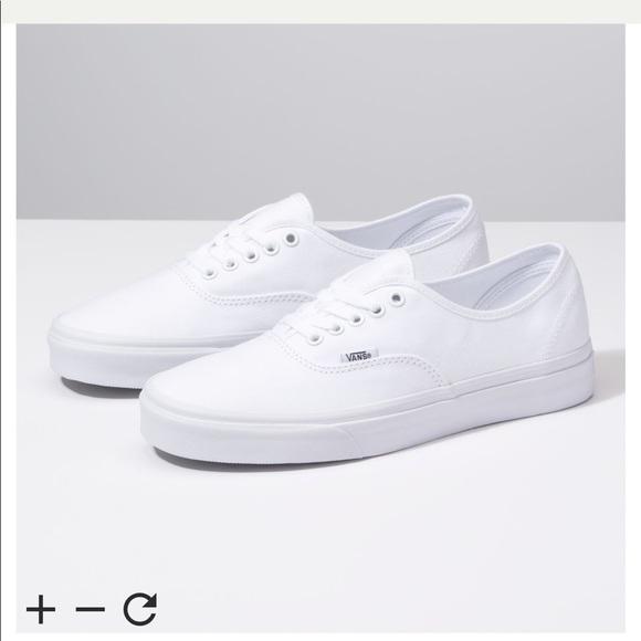 df050c60cd2d Vans Shoes - vans authentic skate shoe - all white